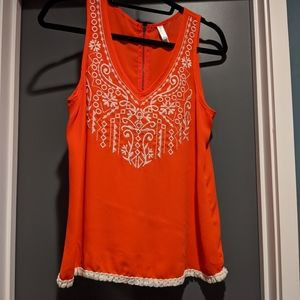 Target embroidered tank